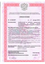 Лицензия МЧС №1
