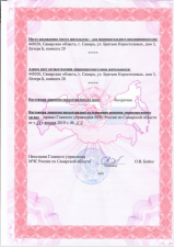 Лицензия МЧС №2